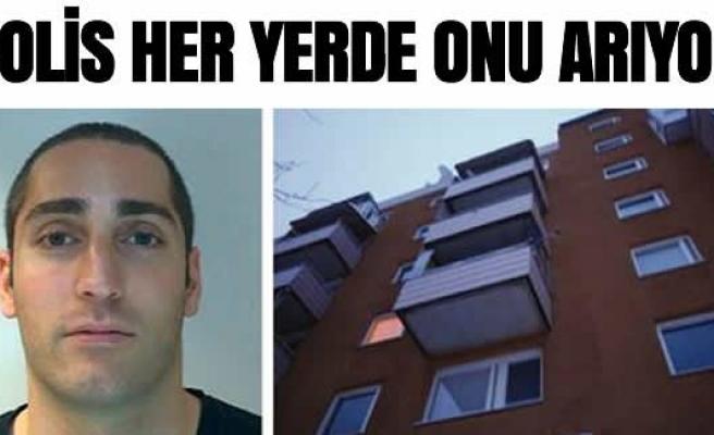 İsveç'te polis eşini balkondan atan bu adamı arıyor