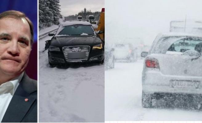 İsveç Başbakanının Aracı Kaza Yaptı