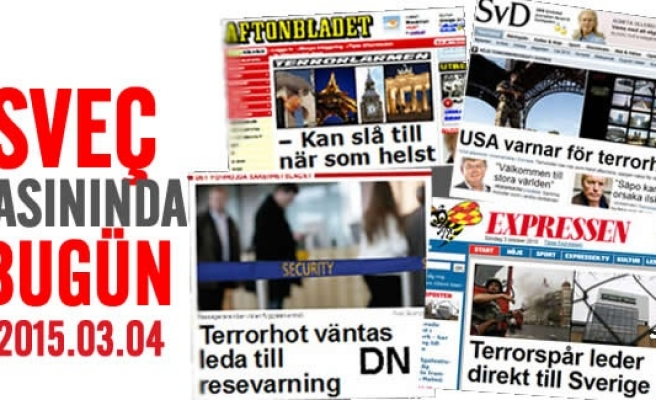 İsveç Basını bugün neler yazdı? 03.04.2015