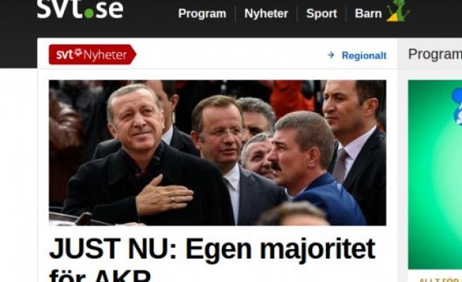 İsveç Basını, ''Erdoğan'ın Büyük Zaferi''
