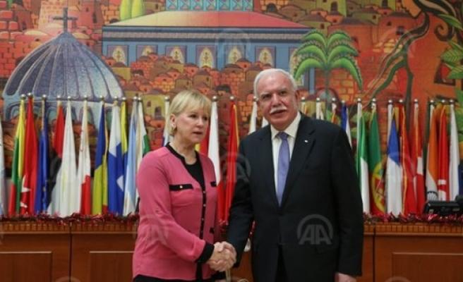 Isveç Dışişleri Bakanı Wallström Ramallah'ta