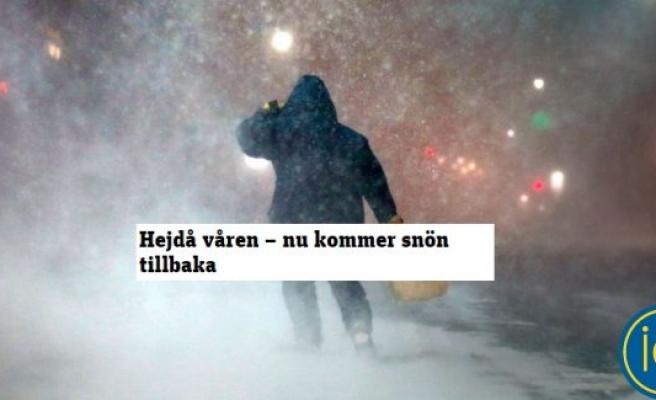 İsveç'e kar ve soğuk geri dönüyor...