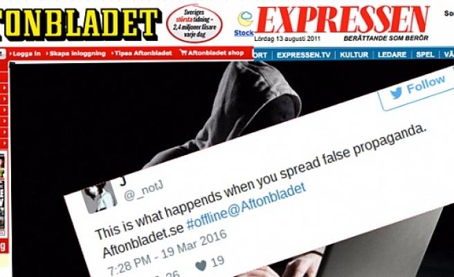 İsveç Gazetelerinin İnternet Sayfaları Çökertildi....