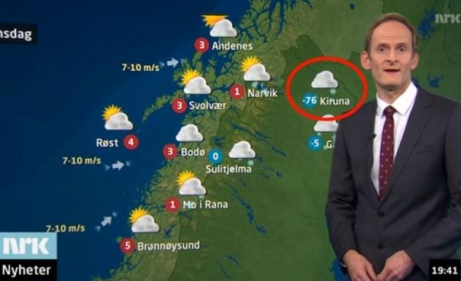 İsveç Kiruna'da soğuk eksi 76 derece