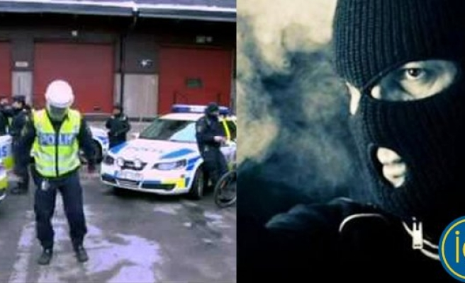 İsveç polisi maskeli soyguncuların peşinde