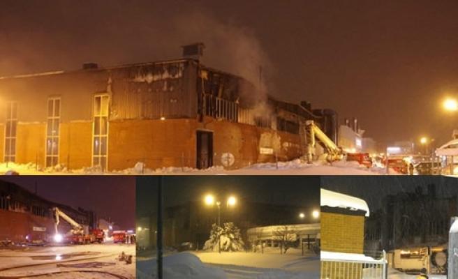 İsveç sanayisinde çıkan yangın büyük hasar meydana getirdi