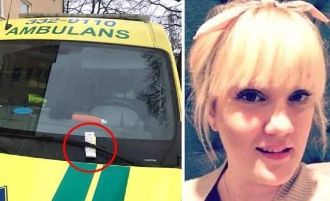 İsveç'te Ambulansa Park Cezası