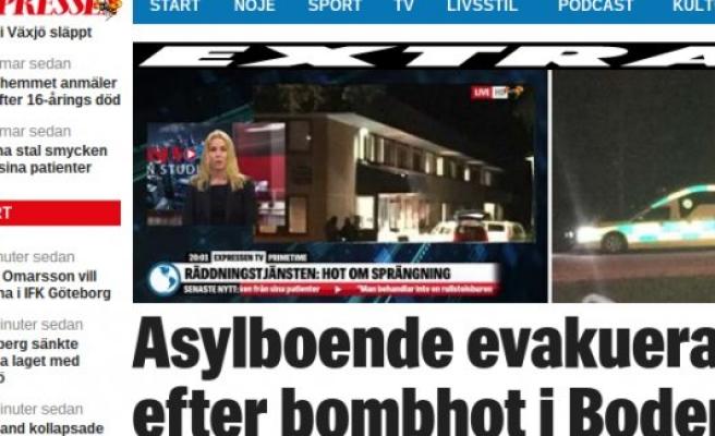 İsveç'te bomba alarmı: Sığınmacı kampı boşaltıldı