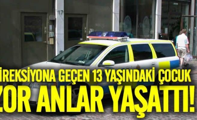 İsveç'te direksiyona geçen 13 yaşındaki çocuk polisi harekete geçirdi