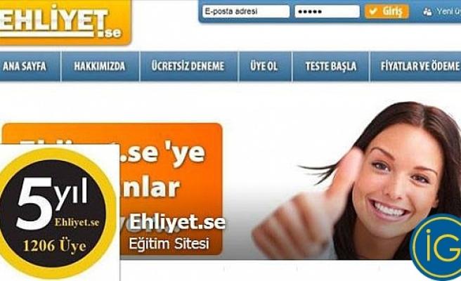 İsveç'te ehliyet sınavına evde Türkçe çalışma imkanı