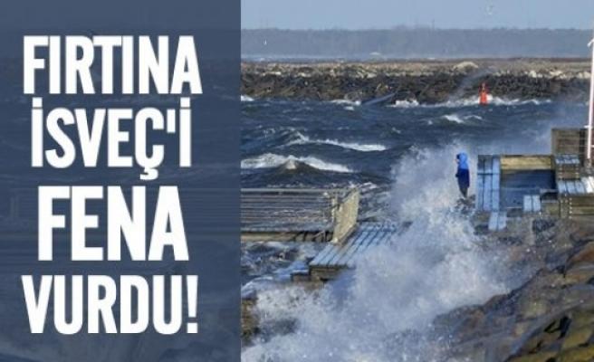 İsveç'te fırtına çilesi!