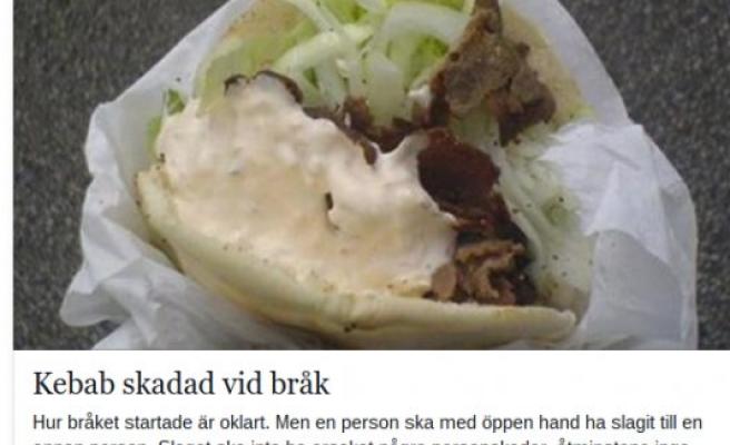 İsveç'te Güldüren Polis Raporu: Bir Kebab ve Bir İçecek sakatlandı