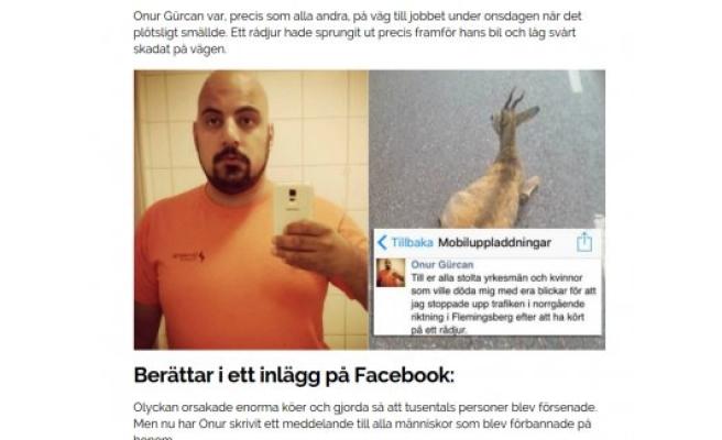 İsveç'te Günün Centilmeni Onur Gürcan seçildi