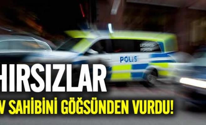 İsveç'te hırsızlar ev sahibini göğsünden vurdu