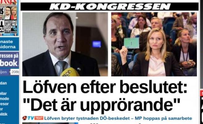 İsveç'te hükümetin düşmesi için düğmeye bastılar
