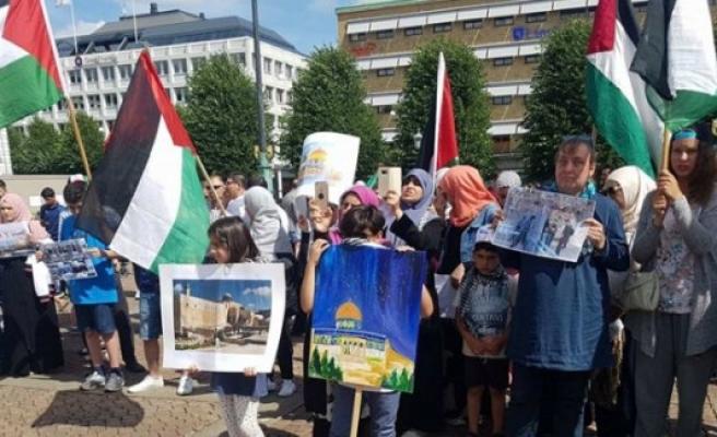İsveç'te İsrail Protesto edildi