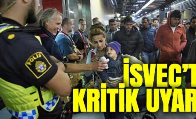 İsveç'te mülteci uyarısı