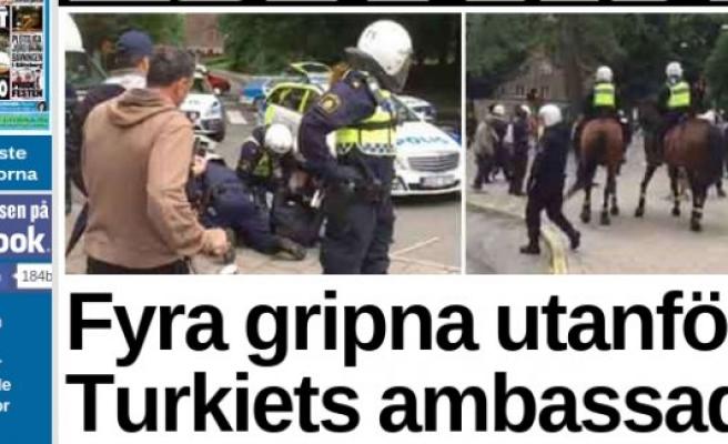 İsveç'te, polise saldıran 4 PKK yandaşı gözaltına alındı