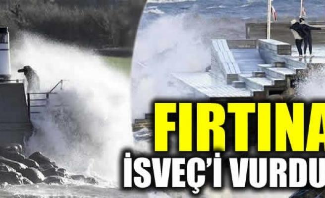 İsveç'te şiddetli fırtına hayatı olumsuz etkiledi
