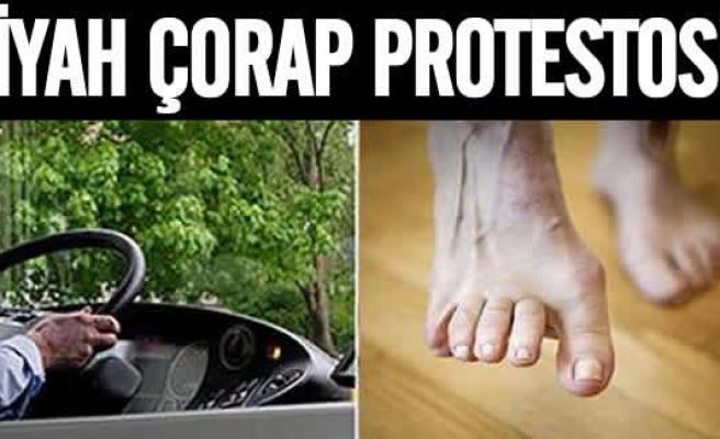 İsveç'te şoförler siyah çorapları protesto etti!