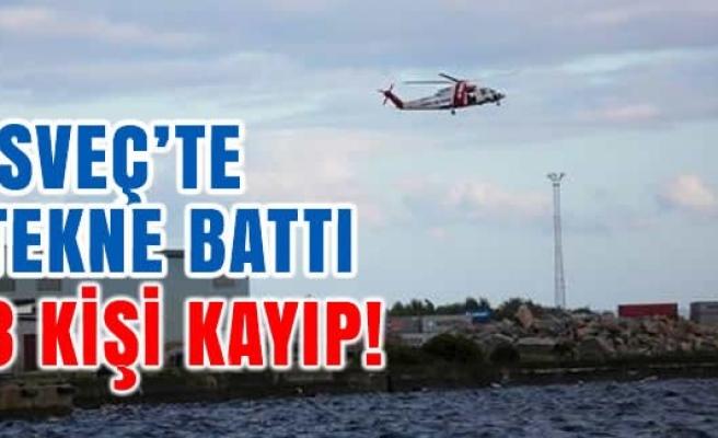 İsveç'te tekne battı 3 kişi kayıp