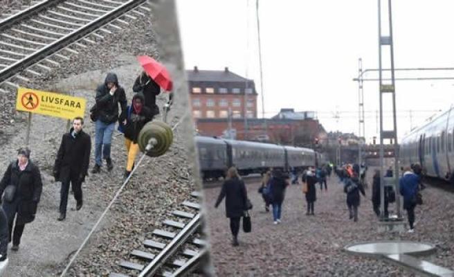 İsveç'te trenler durdu işte demiryolu çelesi!