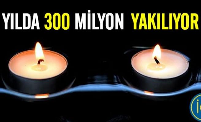 İsveç'te yılda 300 milyon mum yakılıyor