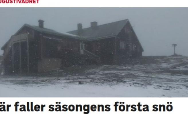 İsveç'te yılın ilk karı yağdı