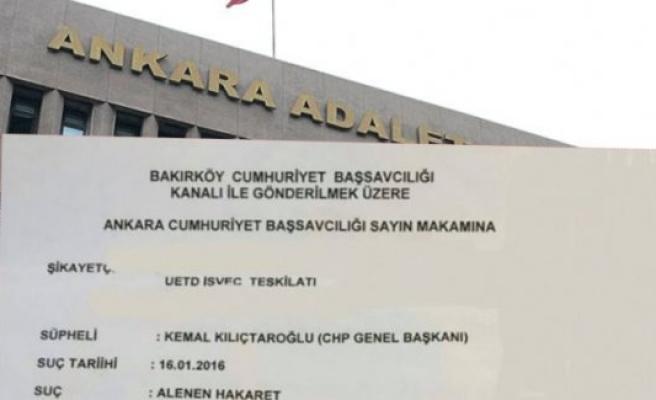İsveç UETD'den, Kılıçdaroğlu'na Suç Duyurusu