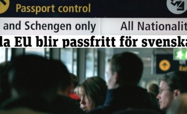 İsveç vatandaşları Pasaportsuz AB ülkelerine gidebilecek!