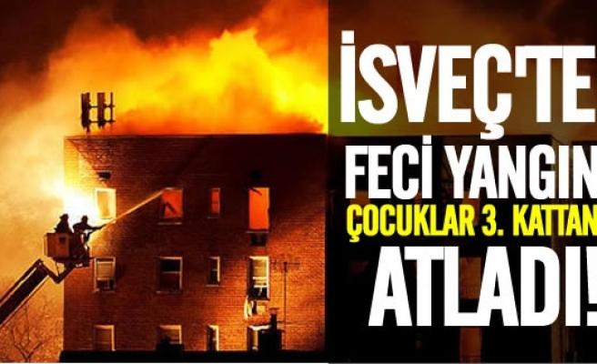 İsveç, yanmaktan kurtulmak için 3. kattan kendini atan bu çocukları konuşuyor