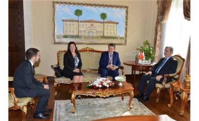 İsveç'in Ankara Büyükelçisi Lars Wahlund, Antalya Valiliğini ziyaret