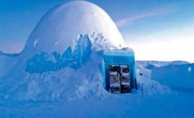 İsveç'in buz oteli -40 derecede bir gecesi 500 dolar!