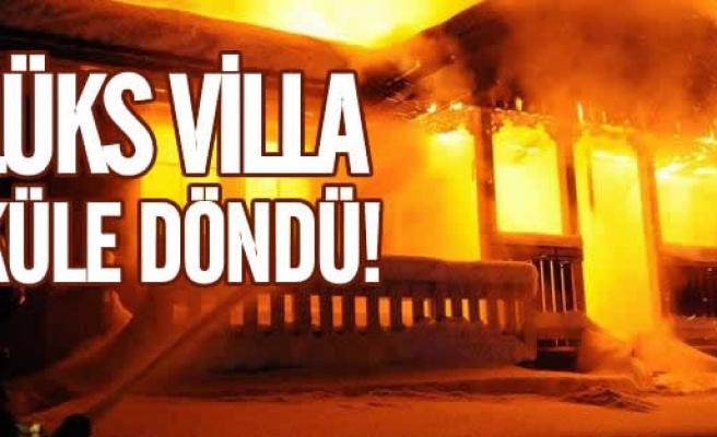 İsveç'te Lüks villa yangını
