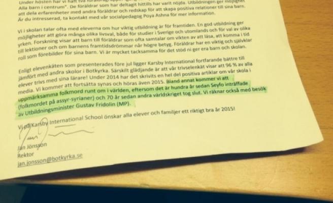 Türk çocukları için  sözde soykırım dersine İsveç'te ki ailelerden tepki...