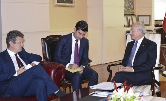 Kemal Kılıçdaroğlu İsveç Büyükelçisi Wahlund'u kabul etti