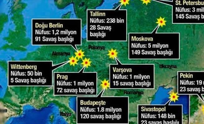 Korkunç gerçek! 1200 kente atom bombası atılacaktı