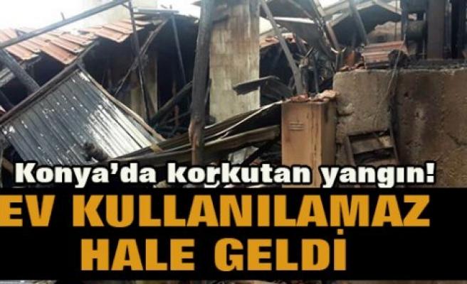 Kulu'da 5 katlı binanın çatısında yangın