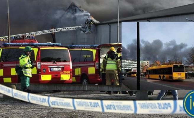 Malmö'de geri dönüşüm tesislerinde büyük yangın!