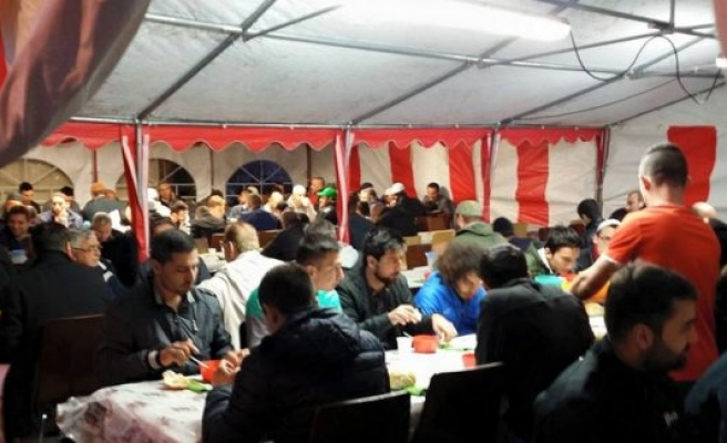 Malmö'de iftar çadırı kuruldu