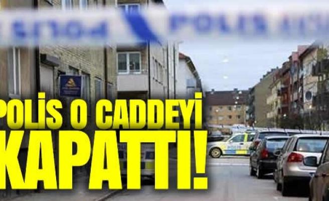 Malmö'de polis olaylı caddeyi insan girişine kapattı