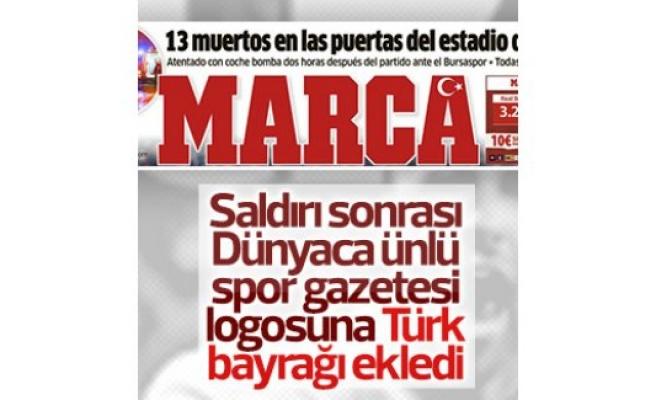 Marca gazetesi logosuna Türk bayrağı ekledi