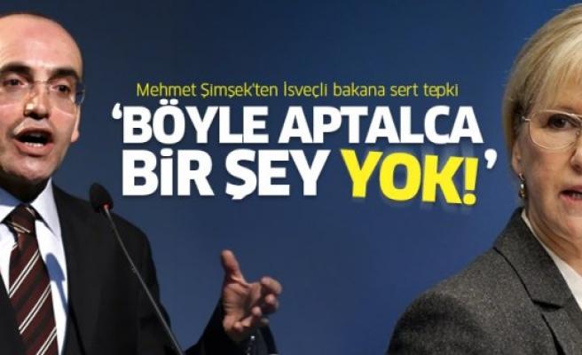 Mehmet Şimşek'ten İsveçli bakana sert tepki