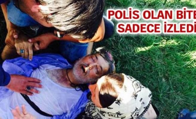 Mülteci kalp krizi geçirdi Avrupalı polisler izledi!