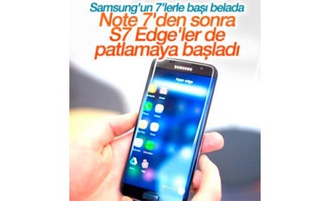 Note 7'den sonra S7 Edge'ler de patlamaya başladı