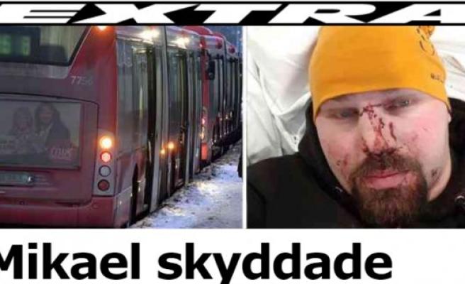 Otobüs şoförüne yardım eden İsveçlinin burun ve dişlerini kırdılar