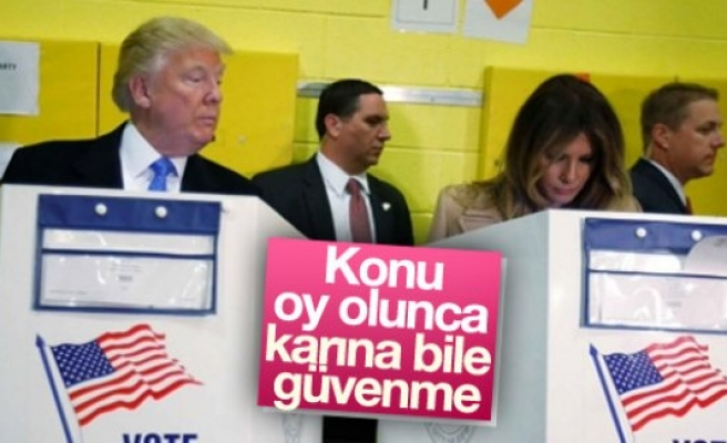 Oy kullanırken karısına bakışı kameralara yansıdı