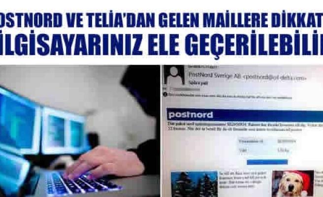 Postnord ve Telia'dan gelen maillere dikkat