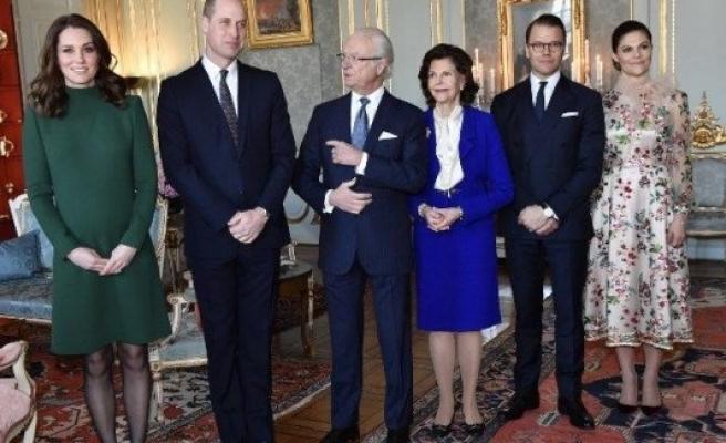 Prens William ve Kate Middleton İsveç Kraliyet Ailesi ile buluştu