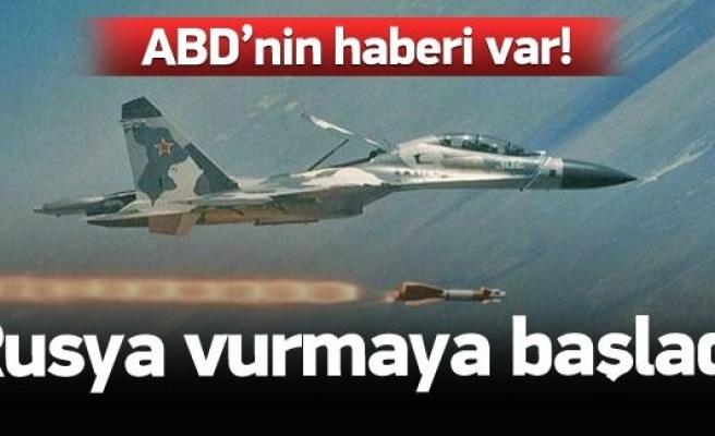 Rus uçakları vurmaya başladı!